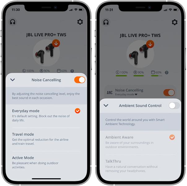 JBL Live PRO+ TWS - Brusreducering