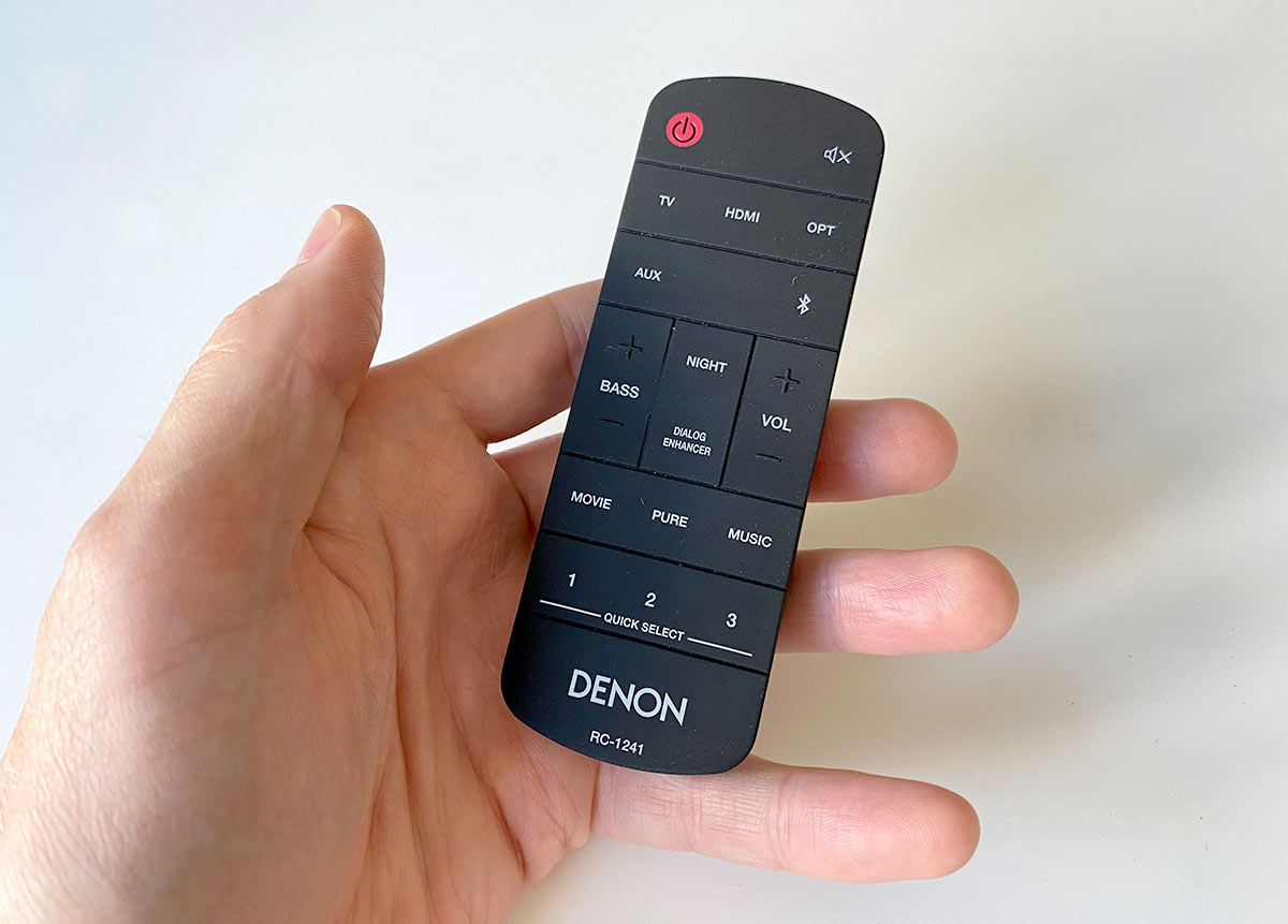 Denon Sound Bar 550 - Fjärrkontroll - Remote