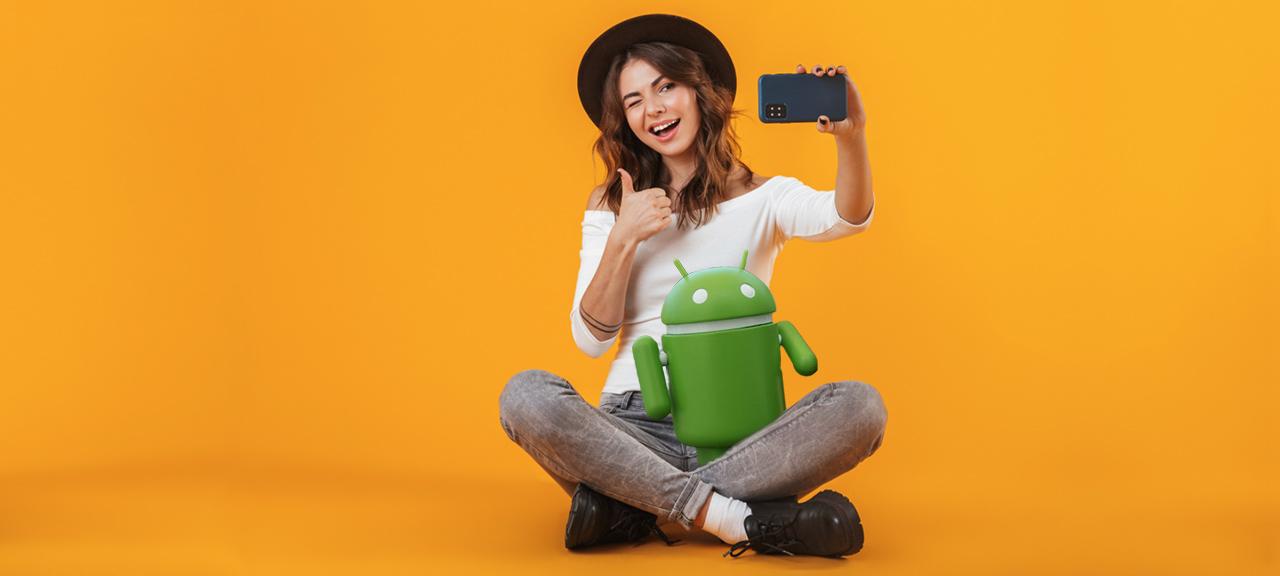 Spegelvänd selfie på Android - Samsung