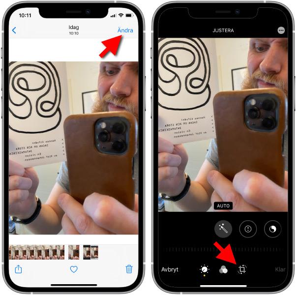 iPhone - Ändra - Spegelvänd redan tagen bild
