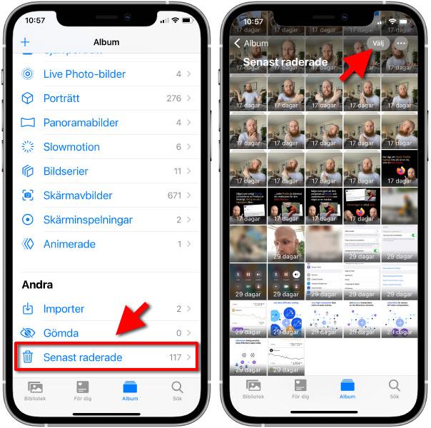 iPhone - Radera bilder helt och hållet