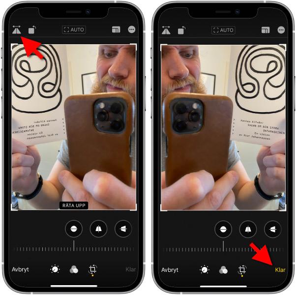 Vänd en bild - Spegelvänt - iPhone