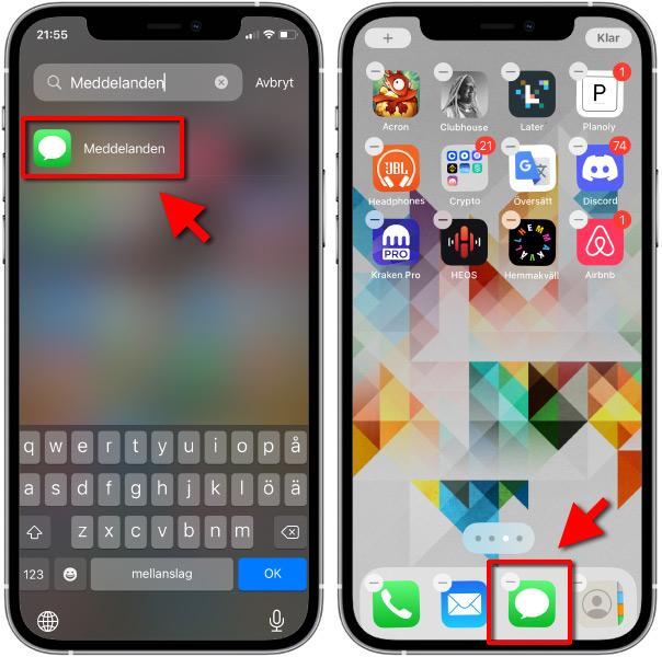 iPhone - Hitta försvunnen app - Få tillbaka