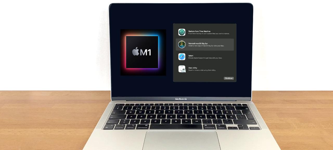 Starta macOS Recovery - Återställning - på M1-mac