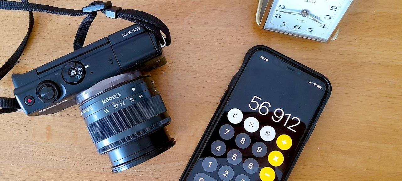 Radera en siffra i Kalkylatorn på iPhone